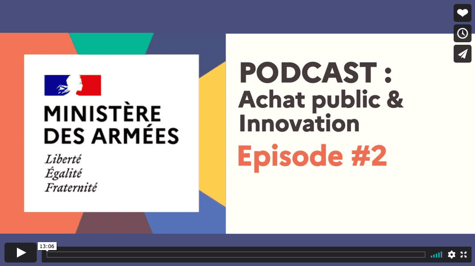 Podcast achat public innovation Ministere Armees