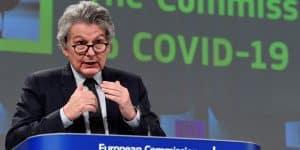 Thierry Breton Commissaire europeen devoile le futur certificat sanitaire europeen